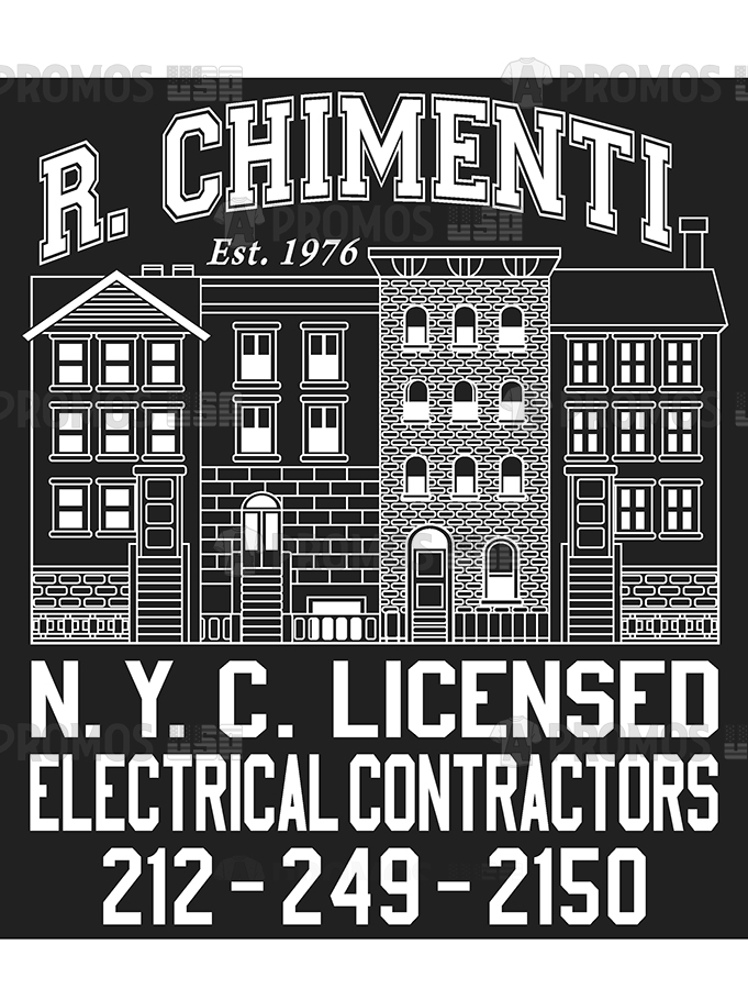electrical contractor custom apparel printing logo