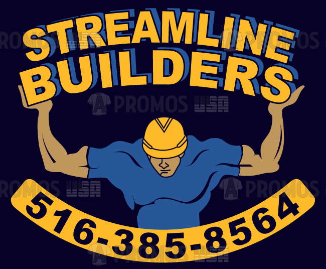 building trades construction contractor custom apparel printing logo