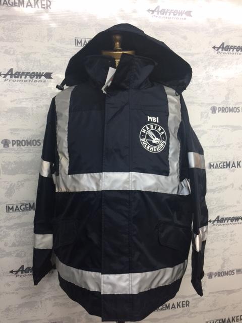 reflective tactical hi visibility hi vis jacket logo