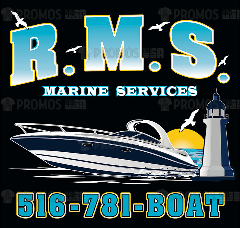business corporate boating marine custom printing embroidery tee shirt t-shirt tshirt tees cap caps logo