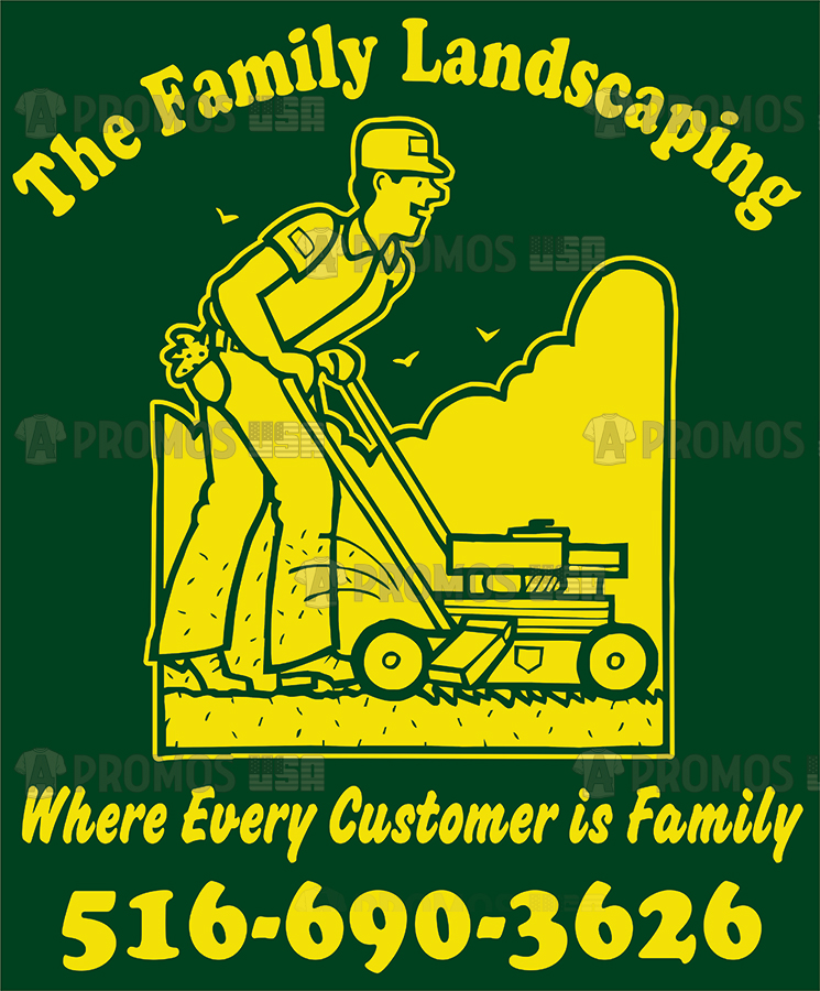 landscaping landscaper lawn maintenance service tees t-shirt tshirt teeshirt caps logo screen printing and embroidery