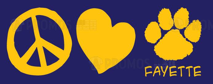 peace love school and team spiritwear mascot elementary hoodies hoody tees t-shirt tshirt teeshirt caps theme logo screen printing and embroidery